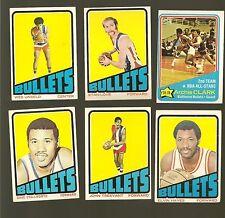 1972 Topps Basketball Set BALTIMORE BULLETS Near Team Set Lot HAYES UNSELD