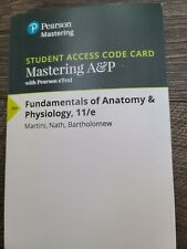Mastering A&P - Access Card - for Fundamentals of Anatomy & Physiology 11th Ed