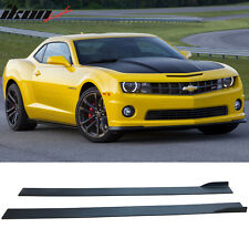 10-15 Chevy Camaro Carbon Fiber Texture Side Skirts Extension Bottom Line Pair
