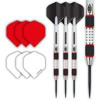 Red Dragon EVOS Steel Darts Set - 28 Gram - Winmau Rhino Black Flights, Shaft...