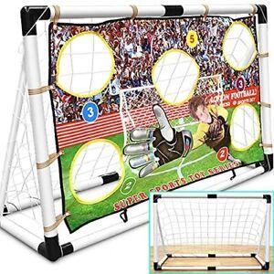120CM FOOTBALL TARGET SOCCER GOAL NET SET  WITH BALL PUMP KIDS CHILDREN TARGET