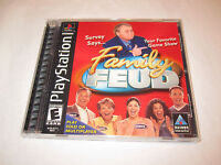 Family Feud (Sony PlayStation PS1) Black Label Complete Excellent!