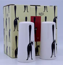 More details for dubout cats cat salt & pepper pots ceramic cruet set shakers novelty gift boxed