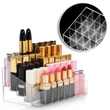 Clear 24 Lipstick Storage Display Stand Rack Makeup Holder Cosmetic Organizer