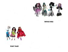 7 Monster High GHOULS RULE &  Scary Tale Dolls Clawdeen CLEO Draculaura FRANKIE