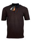 Hugo Boss Men's Polo Shirt Pevario Regular Fit - Headphones Print - Black w/Red
