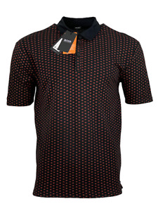 Hugo Boss Men's Polo Shirt Pevario Cotton - Headphones Print - Black w/Red