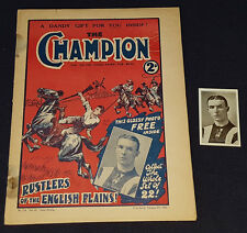 1926 - THE CHAMPION MAGAZINE - WITH CARD INSIDE - SOCCER CARD + MAGAZINE INCLUDE