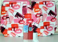 Lot 2 x 2.3 g Clinique Cherry Pop 08 Lip Colour Primer + Makeup Bag New