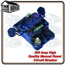 WATERPROOF HIGH QUALITY 200 AMP MANUAL RESET CIRCUIT BREAKER  NARVA COMPETITOR