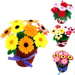 Handmade EVA Flower Pot Educational Toys Kids DIY Craft Kits For Children Gir`sf