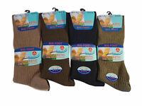 MB385 Mens Big Foot Non Elastic Diabetic Socks 3 Pairs