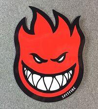 SpitFire Fireball Skateboard Sticker 6in red si