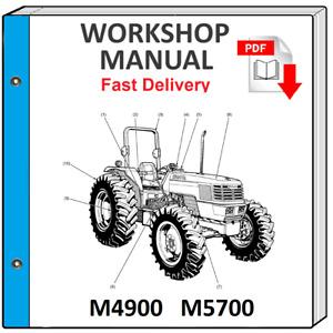 KUBOTA M4900 M5700 TRACTOR SERVICE REPAIR WORKSHOP MANUAL
