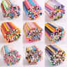 50pcs DIY 3D Nail Art Fimo Canes Stick Rod Polymer Clay Stickers Tips Decoration