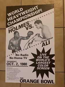 1980 Larry Holmes Vs. Muhammad Ali Signed Boxing Poster Rare Original GTP ALL
