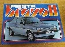 Ford Fiesta Bravo II Limited Edition 1982 UK Market Sales Brochure