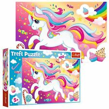 Trefl 100 Piece Kids Large Beautiful Magical Majestic Unicorn Jigsaw Puzzle NEW