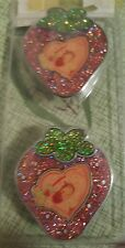 Strawberry Shortcake Glittered Knobs for Drawer, Door Set of 2 Strawberry Shaped