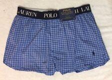 Polo Ralph Lauren Stretch Slim Fit Woven Boxer X-Large 40-42 Blue Check  (0755)