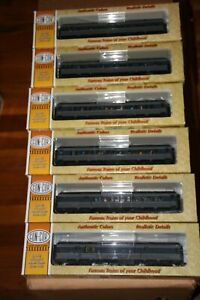 CON-COR HO 6 CAR PASSENGER SET U.P. OVERLAND GREY W/PEOPLE FROM ESTATE JL