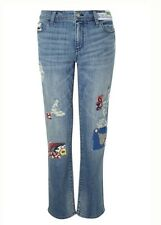 NEW Pilcro Premium Hyphen Embellished Patchwork Jeans Size 28