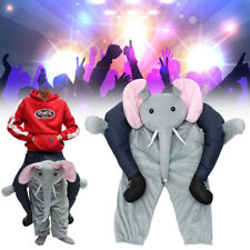 Elephant MASCOT Costume Carry Me Ride On me Dress Funny Party Clothing Unisex