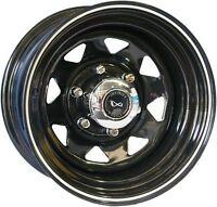 15 x 8 Infinity Coyote (Sunraisers style wheels) Black Rims 6 x 139.7PCD