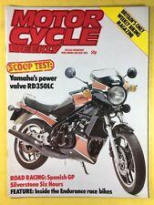 Motocicleta Semanal - 28th MAYO 1983 - Yamaha RD350LC - ESPAÑOL GP - REVISTA