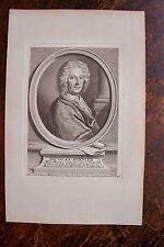 NICOLAS BERNIER . MAITRE DE MUSIQUE . PORTRAIT, GRAVURE ORIGINALE , 1760