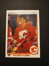 1990-91 Upper Deck Joel Otto Flames Auto Autographed Signed Card