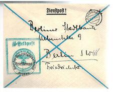 1941 Krakow Poland Germany Cover Waffen SS Feldpost to Berlin Stadt Bank