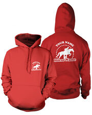 PERSONALISED HORSEY Kids HOODIE Rider's Name & Horse Equestrian Jumping Tack