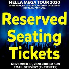 HELLA MEGA TOUR 2020 | PERTH | RESERVED SEATING TICKETS | SUN 08 NOV 2020 5PM