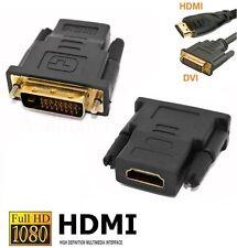 HDMI auf DVI Adapter Stecker Vergoldet 1080p | Full HD | TV PC Beamer PS3 *NEU*