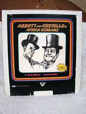 CED VideoDisc Abbott and Costello (1983) in Africa Screams, Vestron Video, B&W
