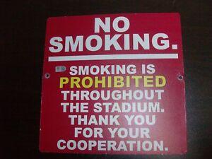 "SAN FRANCISCO GIANTS 49ERS CANDLESTICK PARK ""NO SMOKING"" SIGN (L@@K!)"