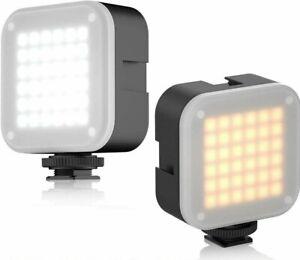 ULANZI LED Dimmable Camera Light 2700 - 6500k Hot Shoe Tripod Mount SHIPS TODAY✅