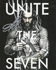 JASON MOMOA 'JUSTICE LEAGUE' AQUAMAN SIGNED 8X10 PICTURE *COA 1