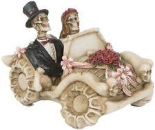 Hochzeitspaar Brautpaar Skelett im Auto Hochzeitsdekoration Tortenfigur DOD346