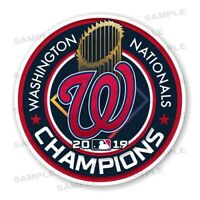 Washington Nationals 2019 Champions Round Decal / Sticker Die cut