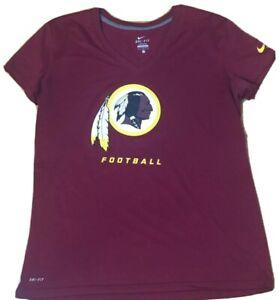 Washington Redskins NFL Women's Nike Dri-fit V-neck Team Logo Shirt (Size: L)