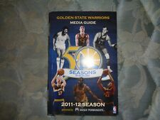 2011-12 GOLDEN STATE WARRIORS MEDIA GUIDE Yearbook NBA KLAY THOMPSON (R) 2012 AD