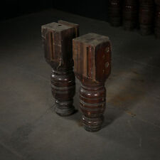 Reclaimed Turned Mahogany Legs from Snooker Tables