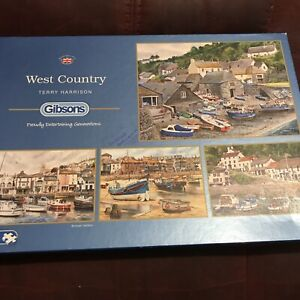 Gibsons 'West Country' - X4 500 Piece Jigsaw Puzzles