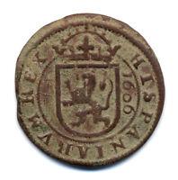 8 Maravedis Felipe III año 1606.MBC+.VF.Segovia.