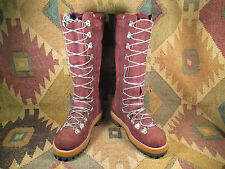 VINTAGE MEN'S MONT BLANC BROWN SUEDE MOUNTAINEERING CLIMBING BOOTS SIZE USA- 8D
