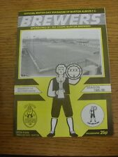 25/03/1986 Burton Albion v Morecambe  (folded, team changes). Unless previously