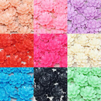 20x 20mm Resin Flower Shabby Chic Flatbacks Craft Embellishments - 10 Colours