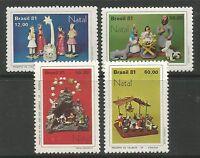 BRAZIL. 1981. Christmas Set. SG: 1925/28. Mint Never Hinged.